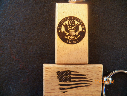 U.S.ARMY Wood Key Tag